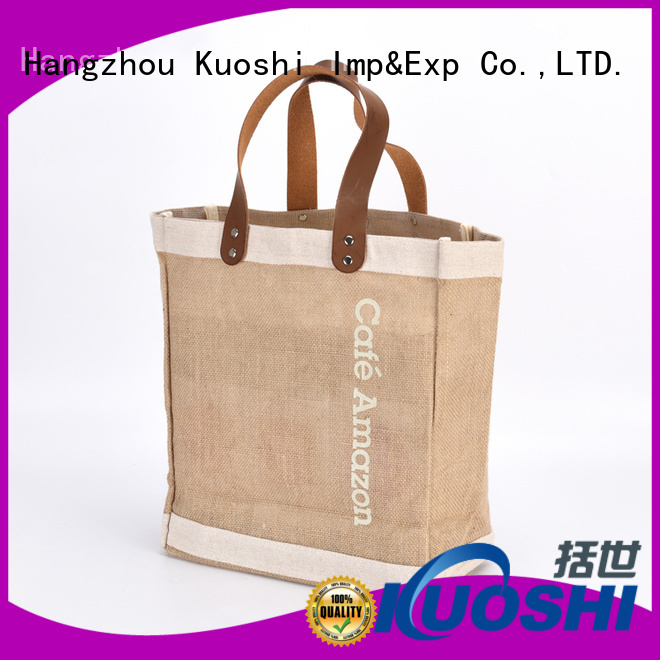 KUOSHI heavy jute bags online supply for supermarket