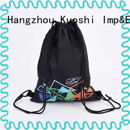 KUOSHI new custom printed drawstring backpack manufacturers for sport