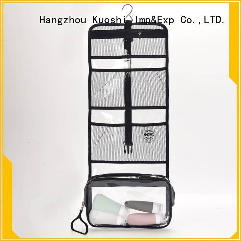 KUOSHI toiletry clear pvc handbag manufacturers for make-up packaging