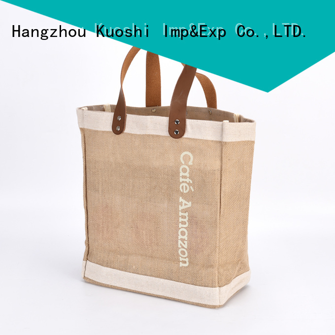 KUOSHI heavy reusable jute shopping bags supply for vegetables
