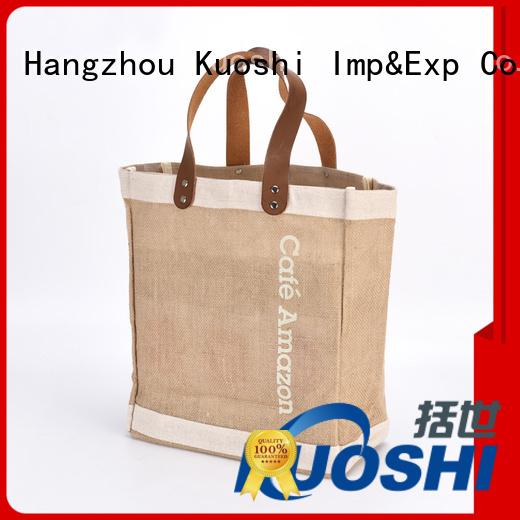 KUOSHI custom jute bottle bag supply for restaurant