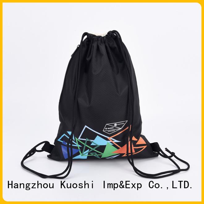 KUOSHI wholesale custom drawstring bag company for school