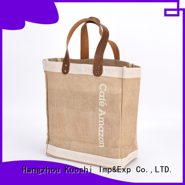 KUOSHI shopping jute office bags for business for supermarket