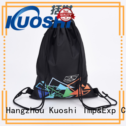 KUOSHI drawstring black and white drawstring bag suppliers for school